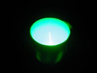 ドライアイスとレーザー光線, dry ice and laser