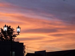 茜色に染まる空,sunset clouds