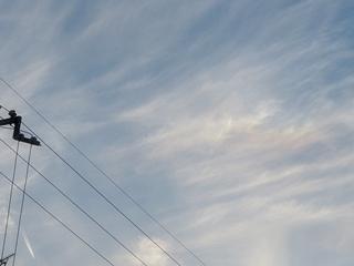 彩雲(中央右寄り),Cloud iridescence