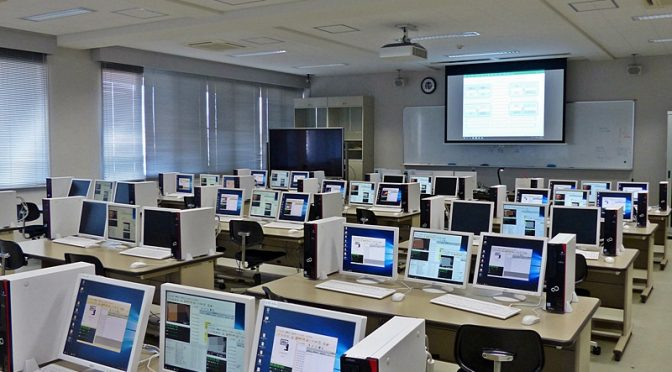 VVCの準備が整ったPC教室, the PC room where VVC was ready.