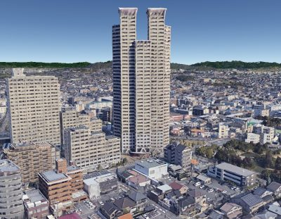 くずはタワーシティ, kuzuha tower city by GoogleEarth