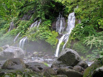 吐竜の滝, doryu falls in Nagano Pref.