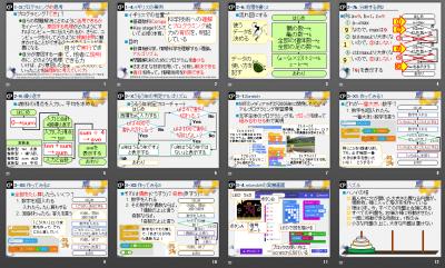 プログラミングの資料, the slide used in the workshop